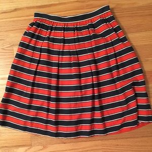 J Crew navy and red striped skirt - sz 2